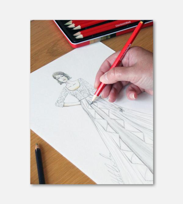 Sketching my bridal illustrations