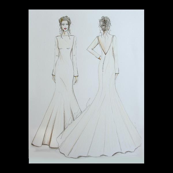 Fashion Illustration Front And Back Inc Mount Sketch My Dress