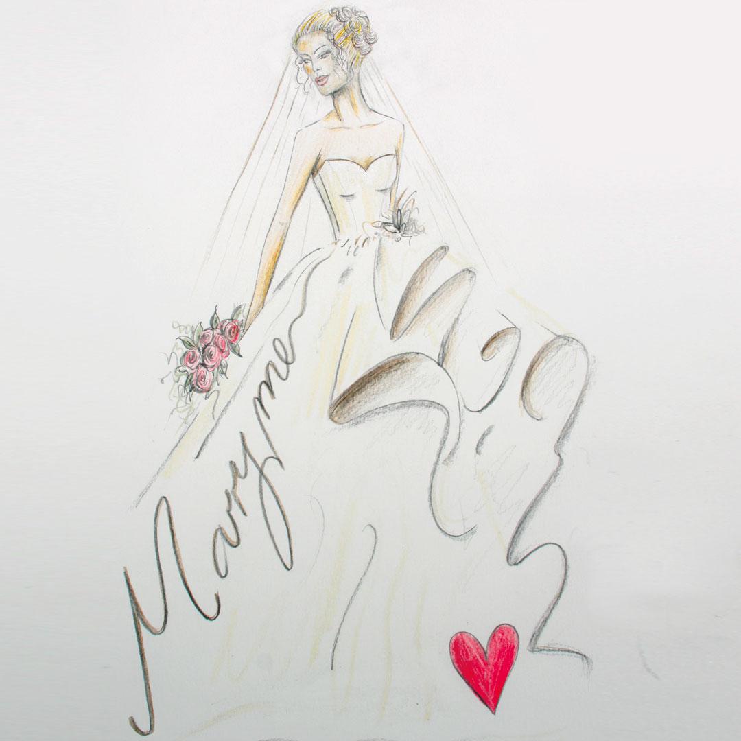Marry Me, Proposal illustration inc mount