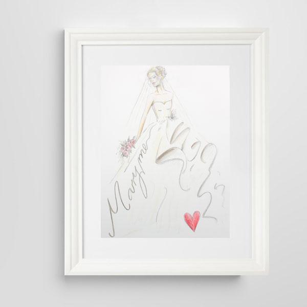 Marry Me wedding illustration