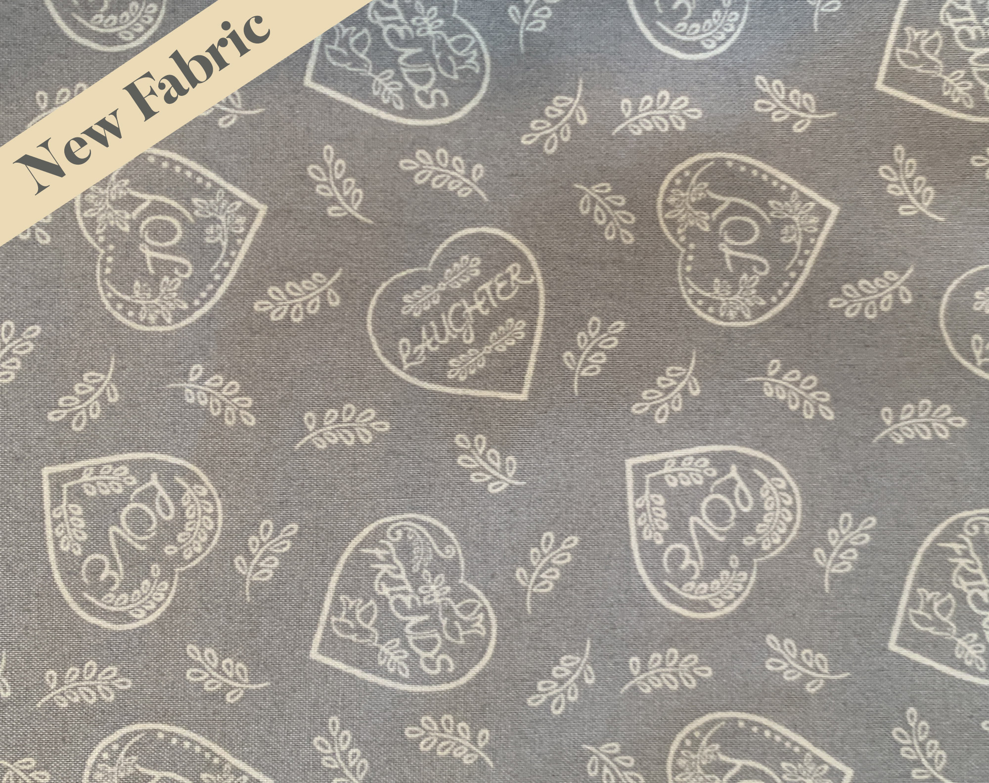 Grey Hearts Face Coverings