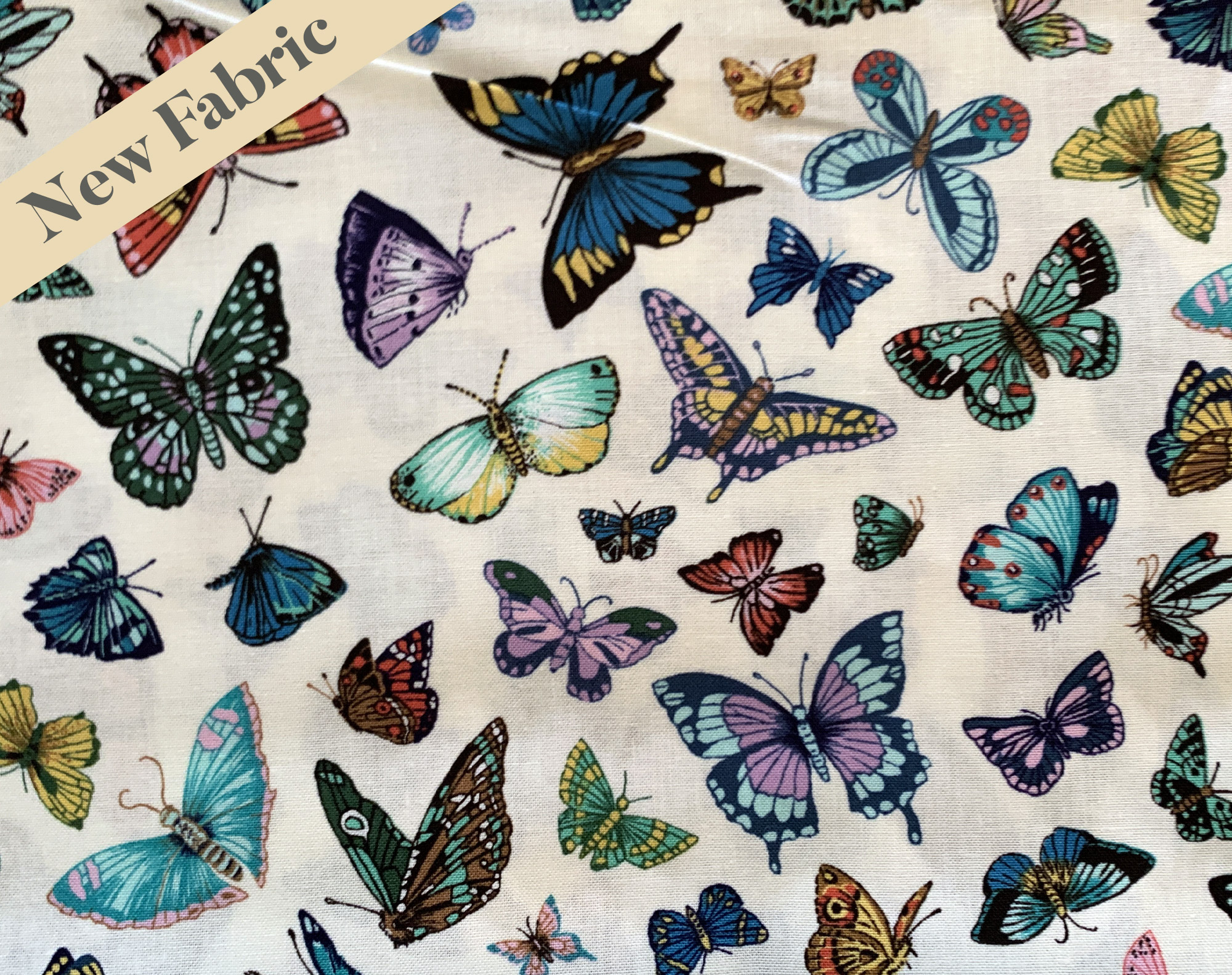 NEW Vintage Butterflies Face Covering