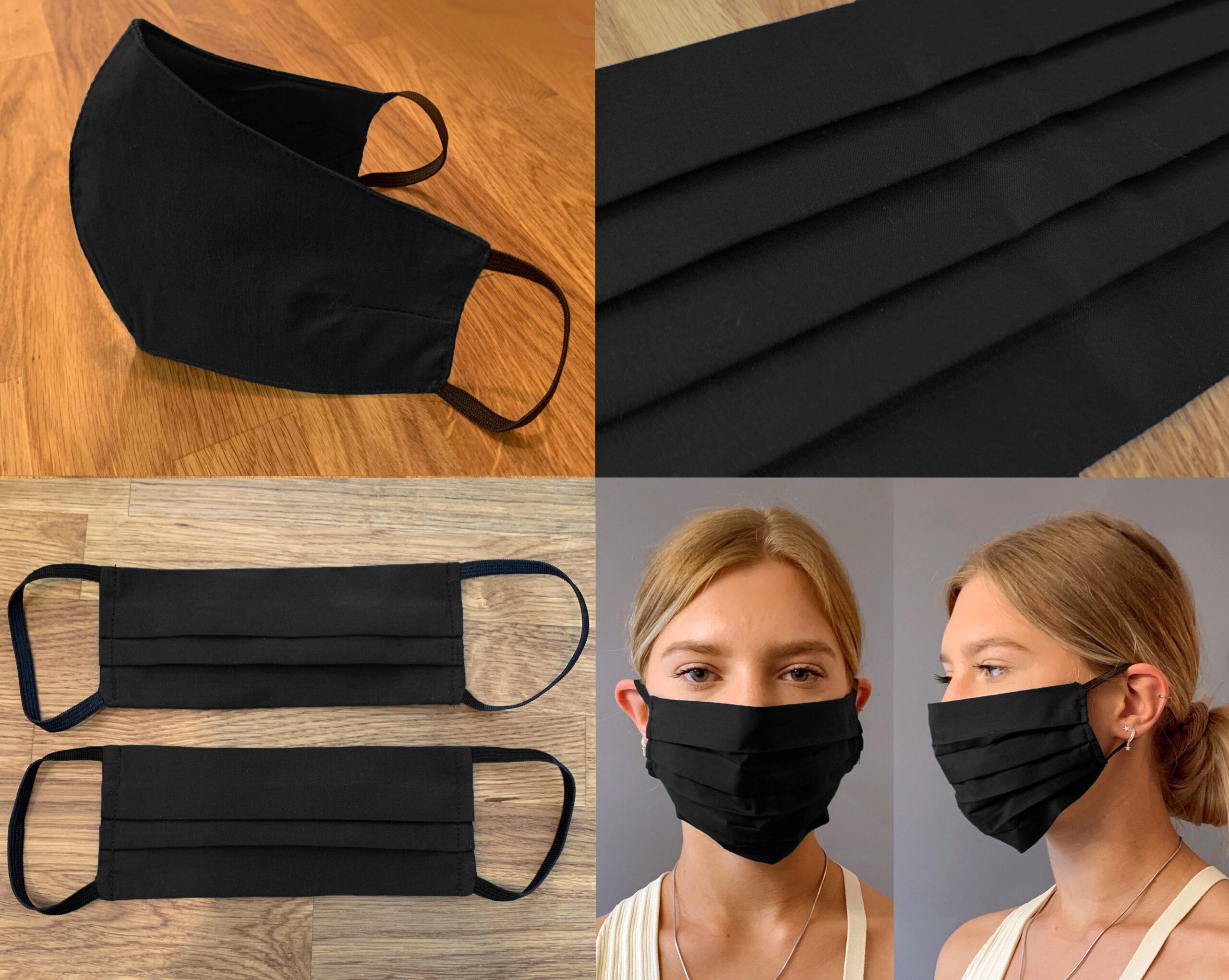 Black Face Mask Covering
