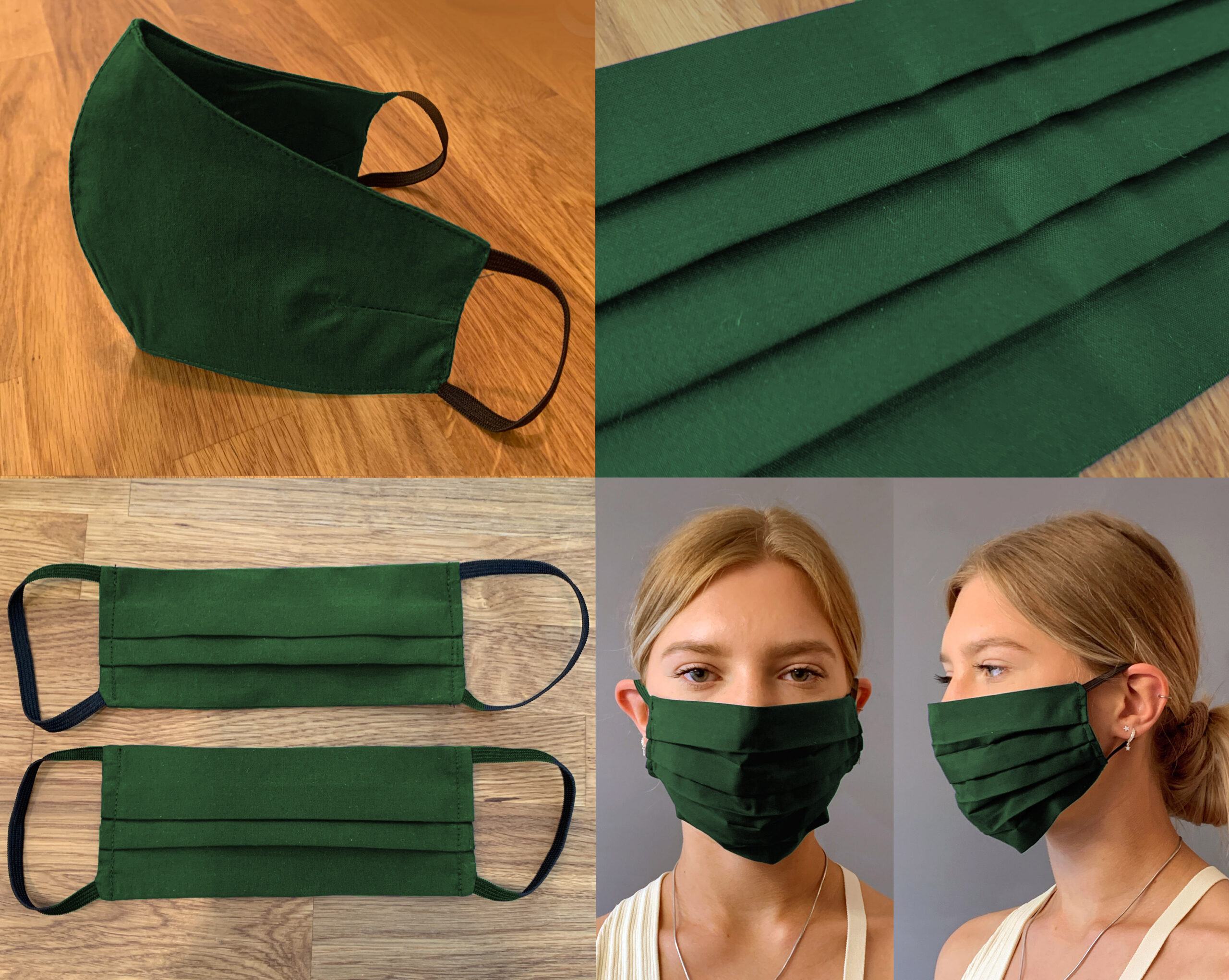 Plain Green Face Mask