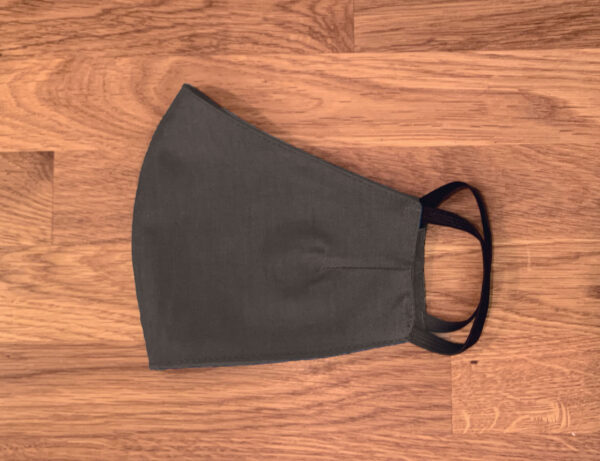 Plain Grey Fitted Face Mask