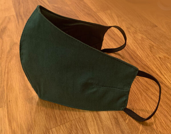 Plain Green Fitted Face Mask