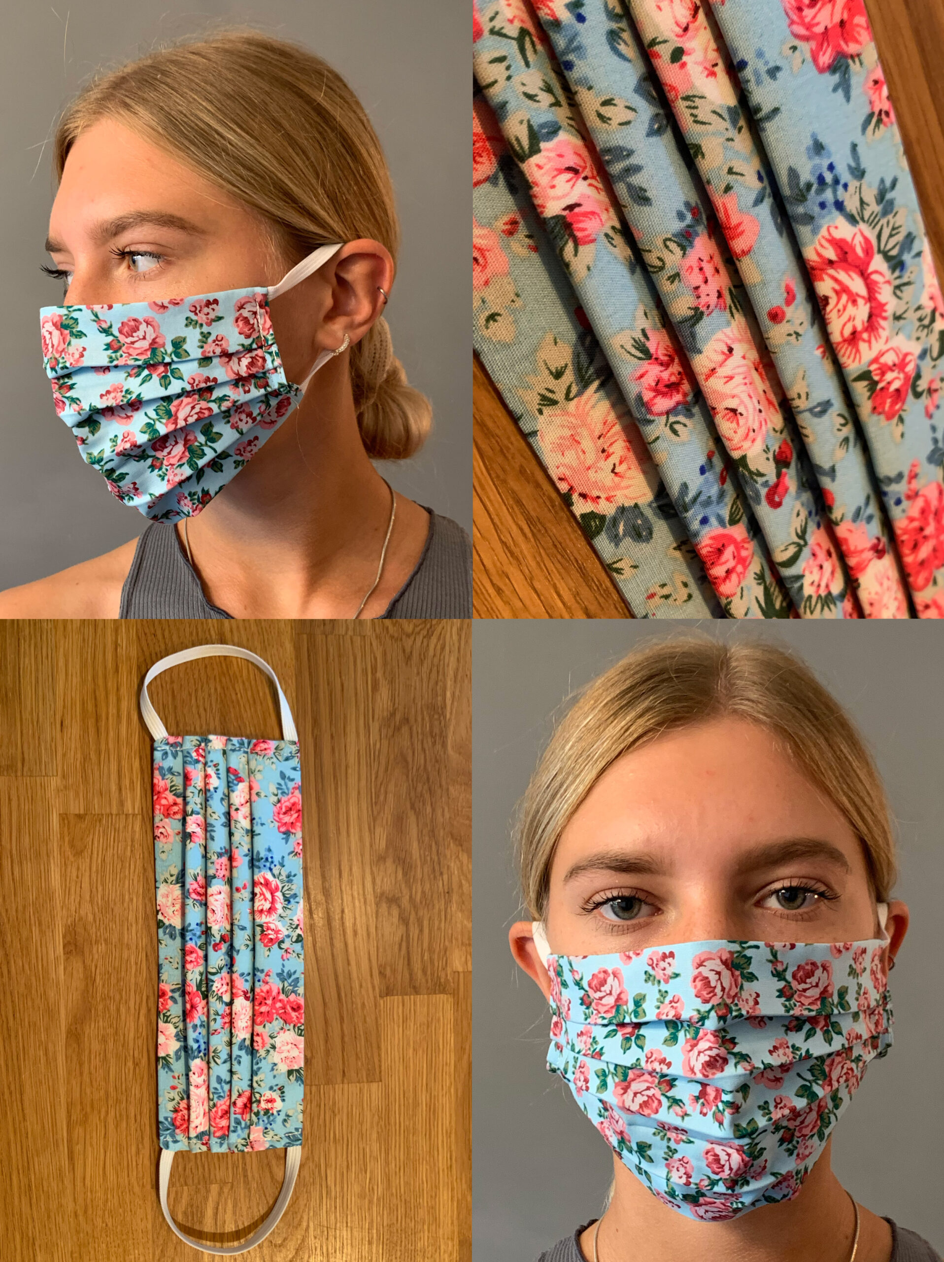 Rose Floral Face Mask NEW AND LIMITED