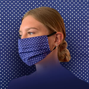 Blue Dotty Face Mask