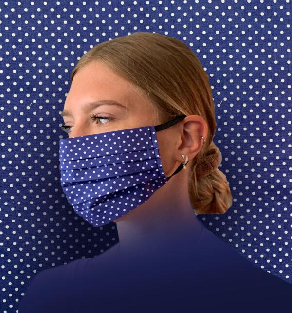 Blue Dotty Face Mask