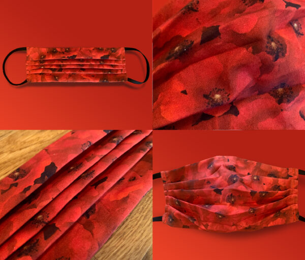 Poppy Warm Red Face Mask