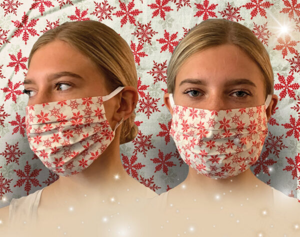 Snowflakes Face Mask