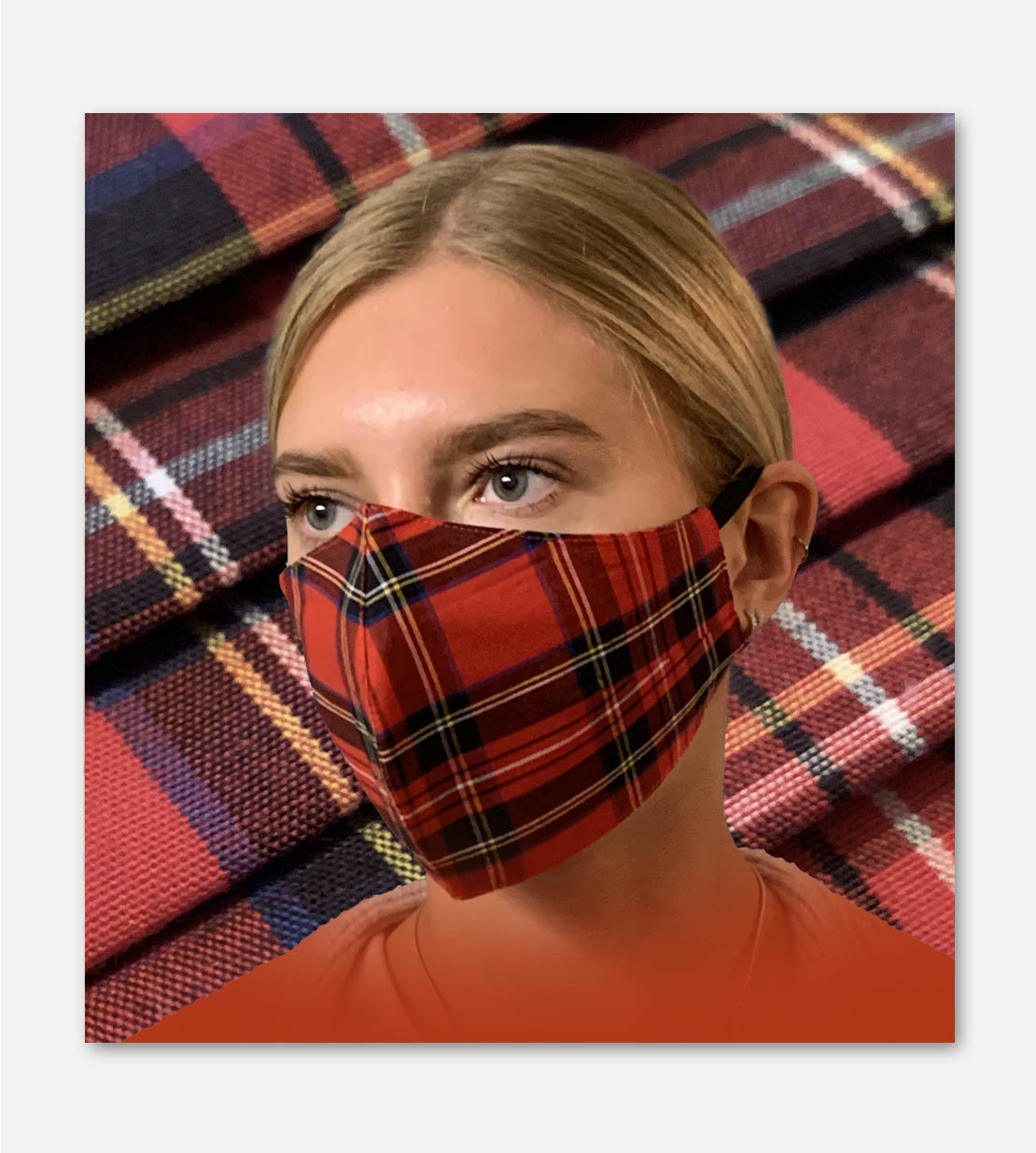 Tartan Fitted Face Mask