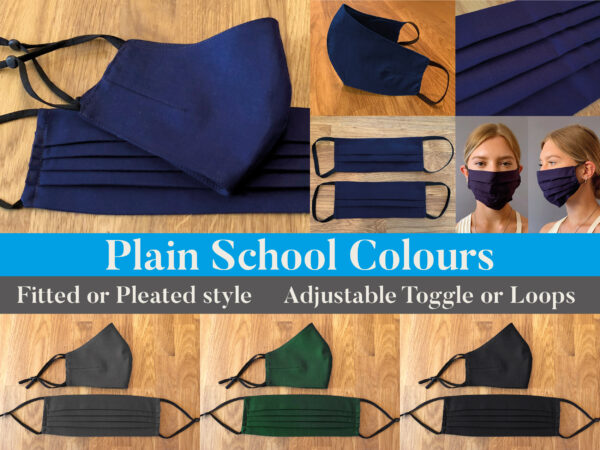 Plain School Face Masks