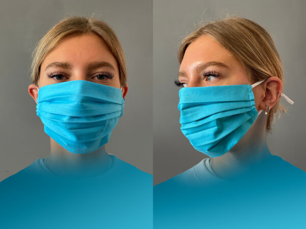 Lancashire Teaching Hospitals Charity Face Mask in Cyan