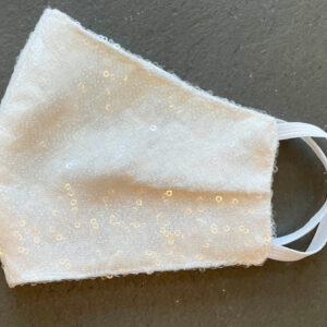Ivory Sequin Bridal Face Mask