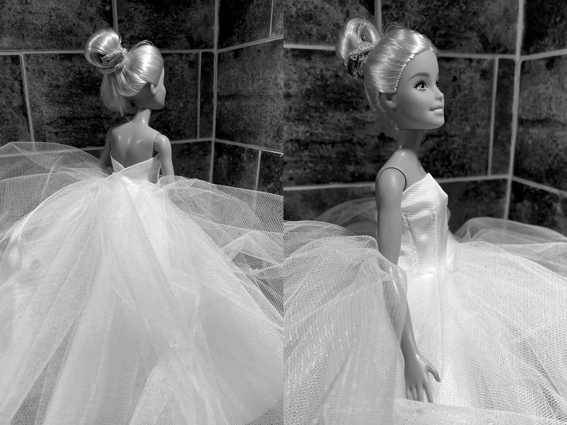 Barbie Miniature Bridal Gown