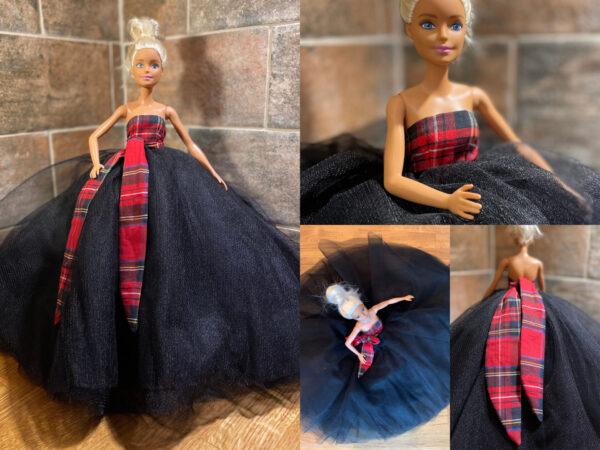 Tartan Barbie Doll Dress