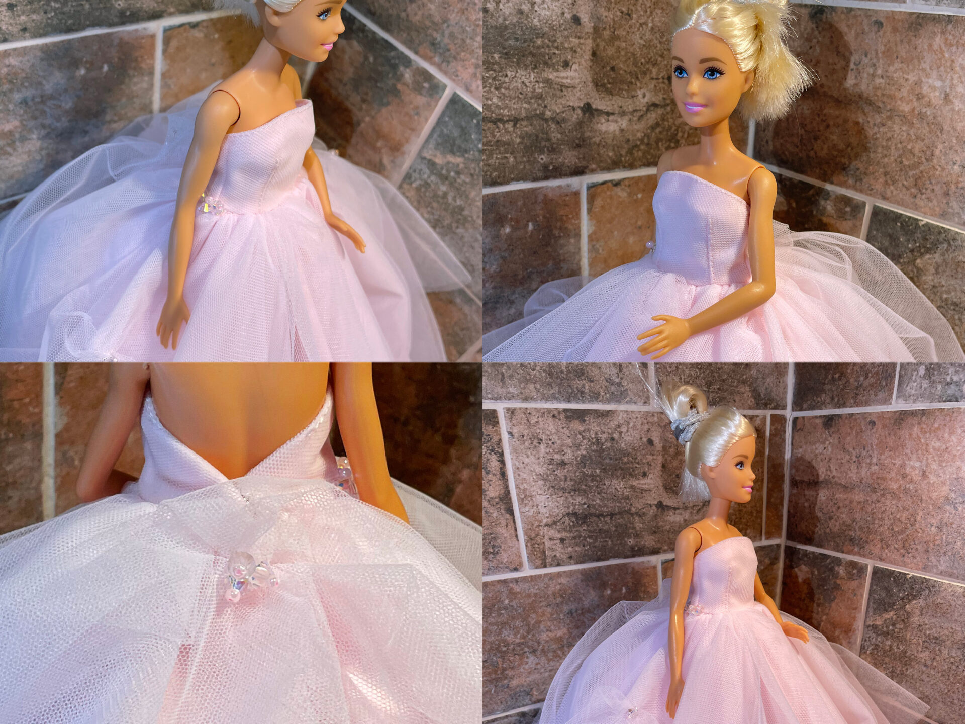 Barbie Miniature Pink Gown