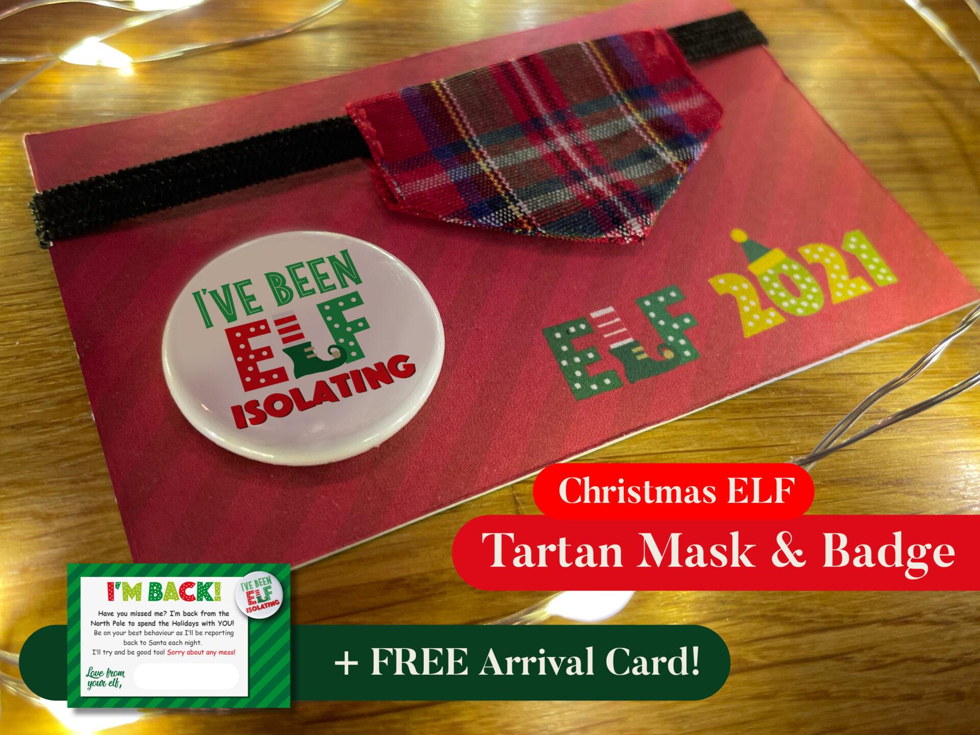 Elf Face Mask + Badge